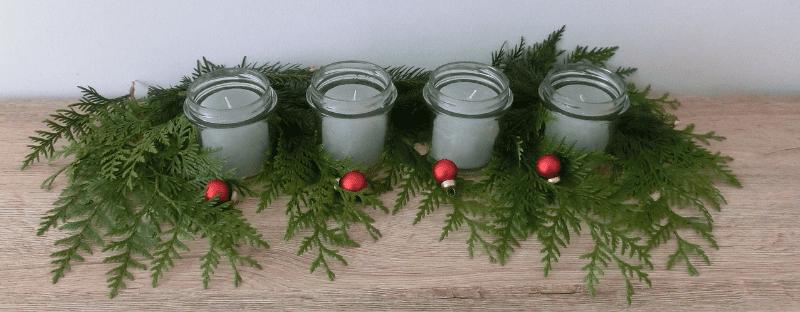 Nachhaltige Weihnachten Adventskranz